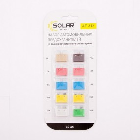 Предохранители блистер стандарт SOLAR AF312