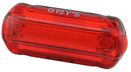 Велосипедний задній ліхтар Grey's 15хLEDs, вологозахищений корпус, 2 реж., кріплення (20/100шт/уп)