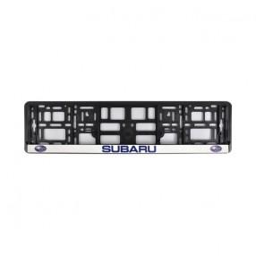 Рамка номера CarLife для Subaru черный пластик (NH012)