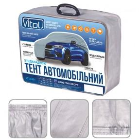 Тент автомобильный Vitol на джип и минивэн серый с подкладкой PEVA+PP Cotton JC13401-M  (4)