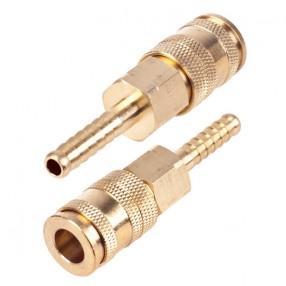 Быстроразъемное соединение Alloid на шланг с фиксатором 08 мм ПМ-3SH (150/20)