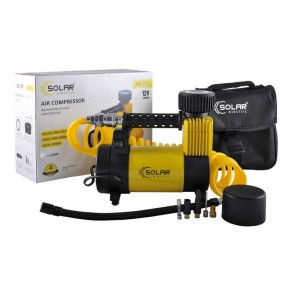 Автомобильный компрессор Solar однопоршневой 40л/мин с фонариком AR212