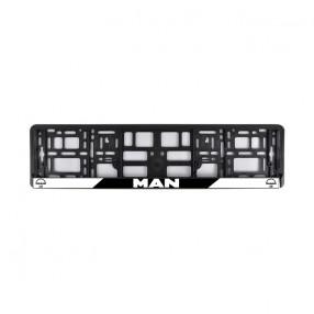Рамка номера CarLife для MAN черный пластик (NH491)